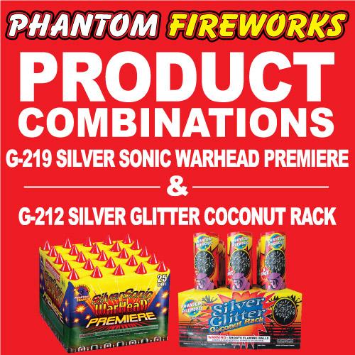Silver Sonic Warhead Premiere and Silver Glitter Coconut Rack