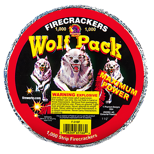 Wolfpack Crackers - 1000 Count Strip