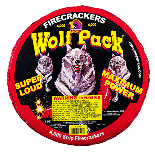 Wolfpack Crackers - 4000 Count Strip