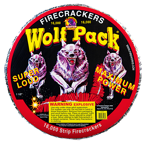 Wolfpack Crackers - 16000 Count Strip