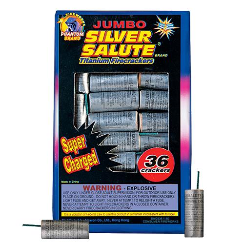 Jumbo Silver Salute Cracker