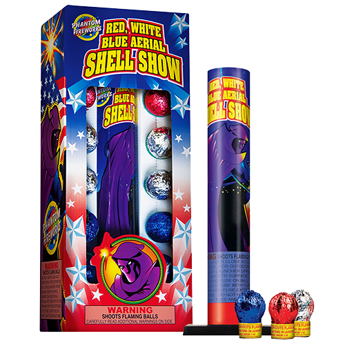 Red, White And Blue Aerial Shell Show
