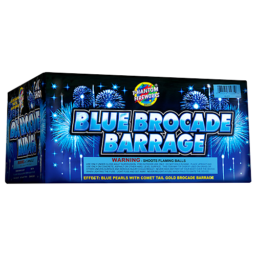 Blue Brocade Barrage, 41-Shot