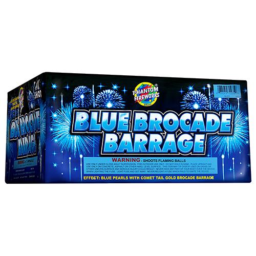 Blue Brocade Barrage, 41-Shot