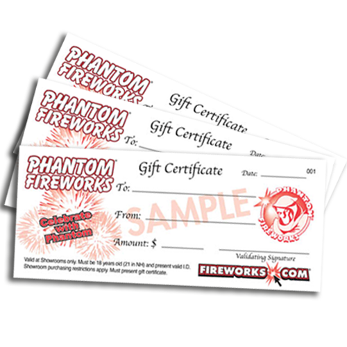 Fireworks Gift Certificate