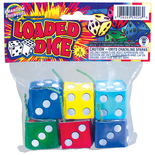Loaded Dice, 6 Pc. Bag