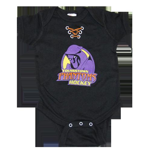 Black Youngstown Phantoms Onesie (12-Months)