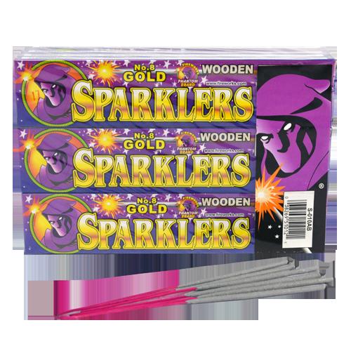 #8 Gold Sparklers