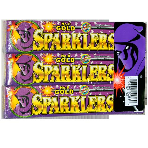 #8 G0LD SPARKLER NEW  48-6-6