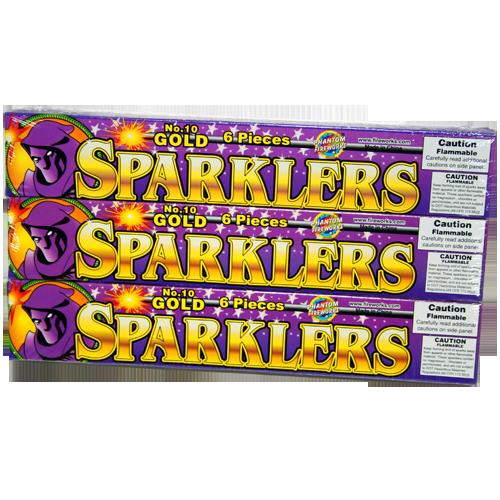 #10 GOLD SPARKLER       48-6-6