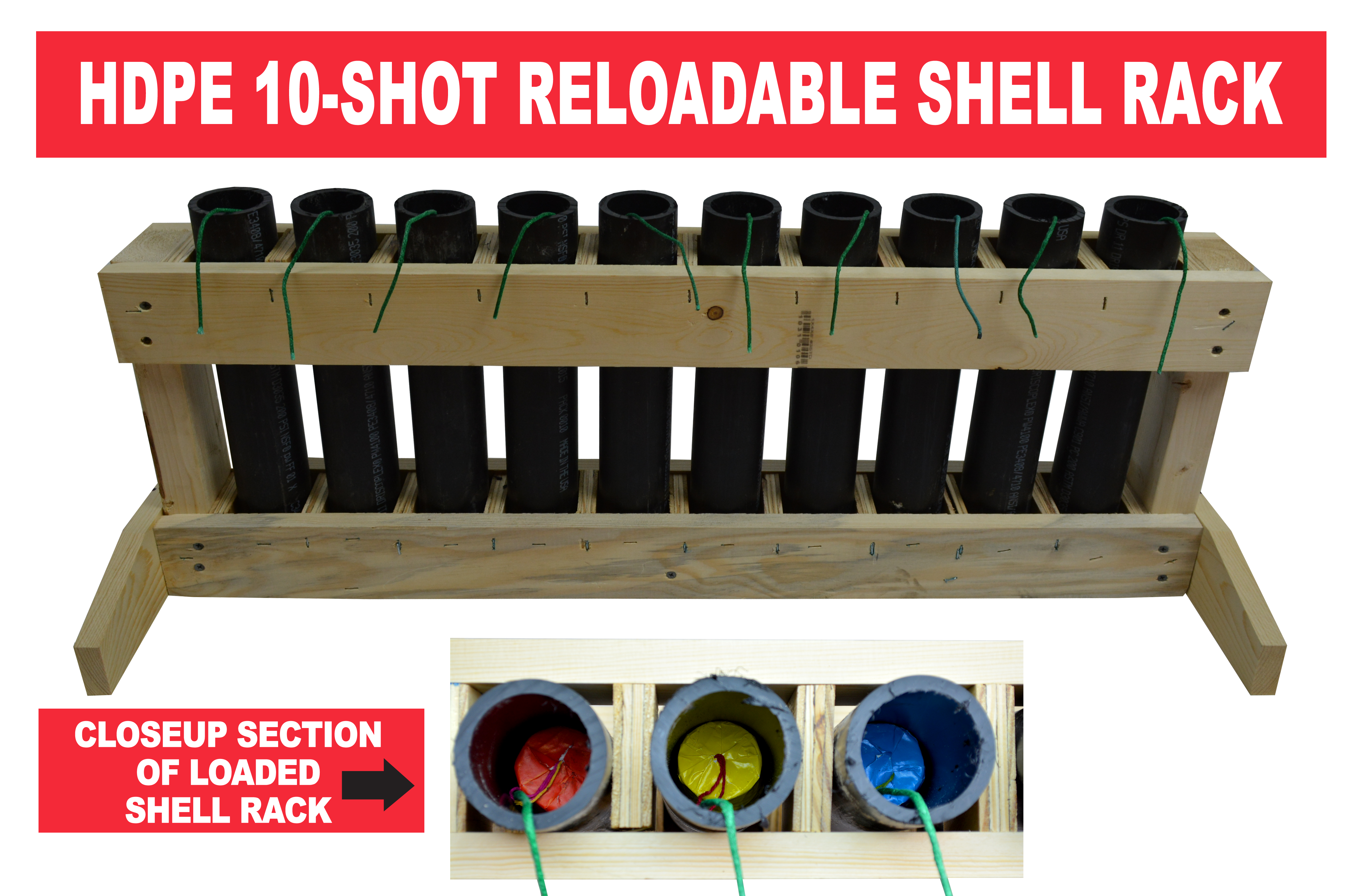 10 Shot Reloadable Mortar Rack