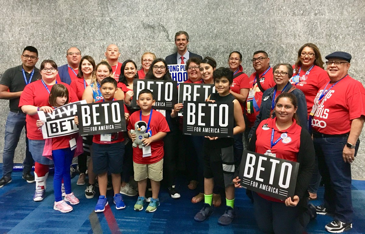 Beto meeting with students, teachers, and members of the NEA in Houston, TX
