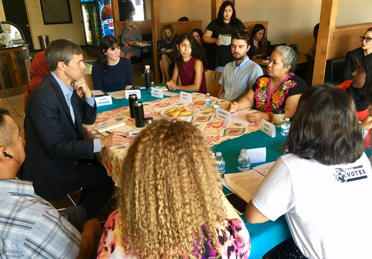Beto meeting with Dreamers, refugees, and asylum seekers to talk about immigration in Tennessee
