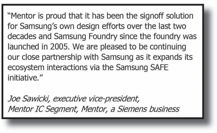 Samsung and Mentor getting headlines with innovative fast LFD using