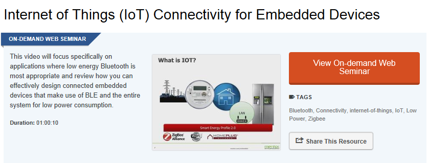 Making use of Bluetooth Low Energy (BLE) profiles for