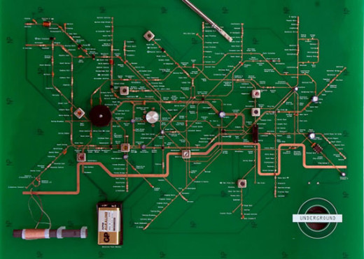 Yuri Suzuki's functional London Underground Circuit Maps Radio