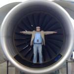 J.VanDomelen in jet engine intake Future of Flight Museum