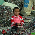 Boy in Pile of Wires