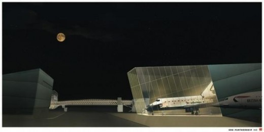 Rendering of planned Seattle Museum of Flight space addition