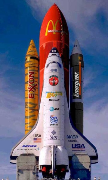 The future of space flight...commercial sponsor anyone?