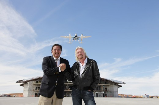 Sir Richard Branson and Gov. Bill Richardson at Spaceway Dedication