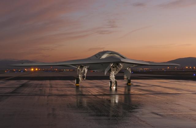 Northrop Grumman's U.S. Navy X-47B tailless unmanned aircraft