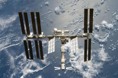 International Space Station from above.