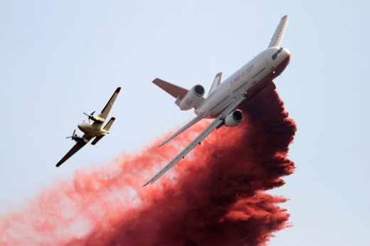 fireretardant drop