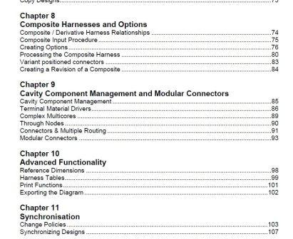 Capital Harness XC - student workbook contents to show the comprehehsive curriculum offered for one of the capital applications.
