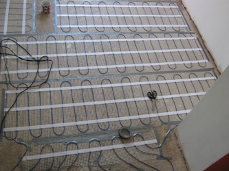 Underfloor Electric Heating Part I In By Christmas Robin - Heating element for tile floor