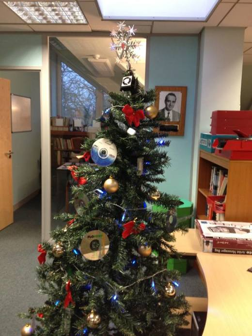 """Now that's what I call a """"cool""""  Christmas tree. Image courtesy of G. Tang. All rights reserved."""