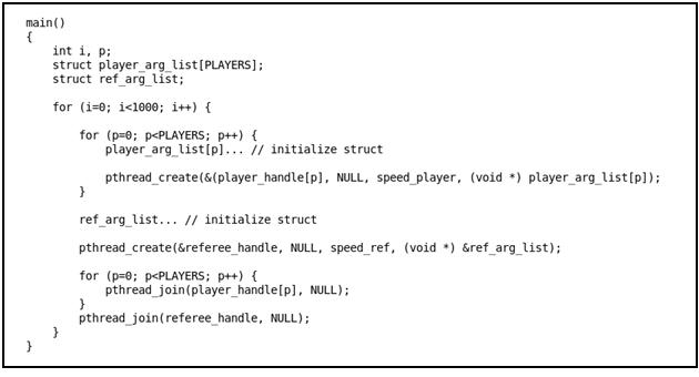 Listing #2 - main function