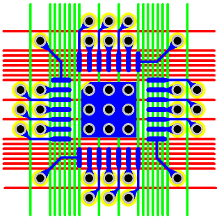 Figure 17 - 0.4 mm Pitch QFN Via Fanout & Routing Solution