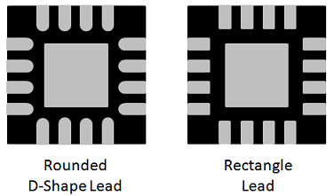 Figure 3 - QFN Lead Shapes