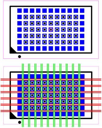 Figure 5 - LGA Via Fanout