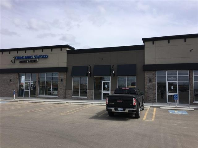 Office or retail space for lease in the prestigious subdivision, Grande Banks. http://www.grandebankson68.com/  Strip mall with various sizes of space available. Excellent location close to school and new residential subdivision. $32.00 psf which is $5,421.33 + GST $271.07 = $5,692.40 per month plus triple net of $8.75 psf. Total Monthly Cost = $6,903.73 plus GST, water, power and gas..