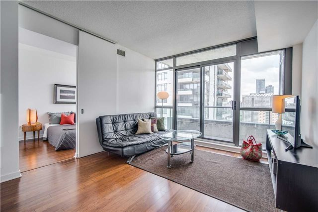 Radio City Condos: Soaring One Bedroom, Upgraded Appliances, Engineered Bamboo Flooring, Granite Counter Tops, Master W/ Large Closet, Bright Urban Views From The Large Private Balcony, Steps To Transit, College Park, The Village, Ryerson, U Of T, Loblaws, Metro And All The City Has To Offer!