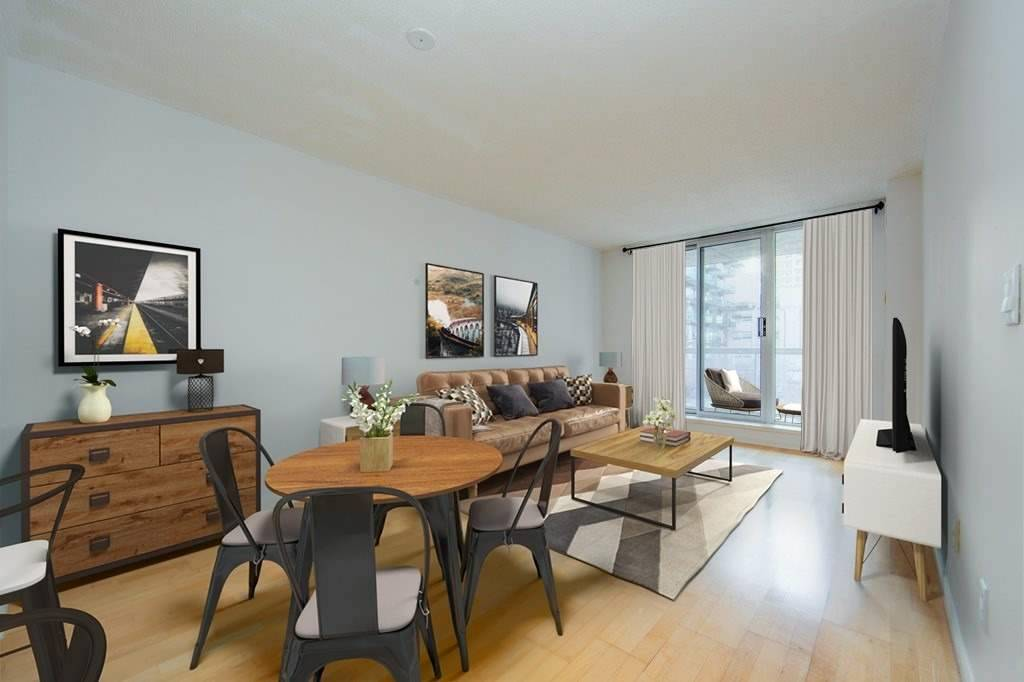Imperial Square Condos: South Facing And Super-Sized, One Bedroom Suite Plus With Den/Office Large Enough To Be A Second Bedroom, Parking And Locker Included. Large, Updated, Open Concept, Kitchen With Massive Breakfast Bar Perfect For Entertaining. King-Sized Bedroom With Large Closet And Ensuite Bath. Freshly Painted And Ready For Occupancy. Steps To Design District, St Lawrence Market, Financial Core, Harbourfront & All The Sights & Sounds Of Downtown.