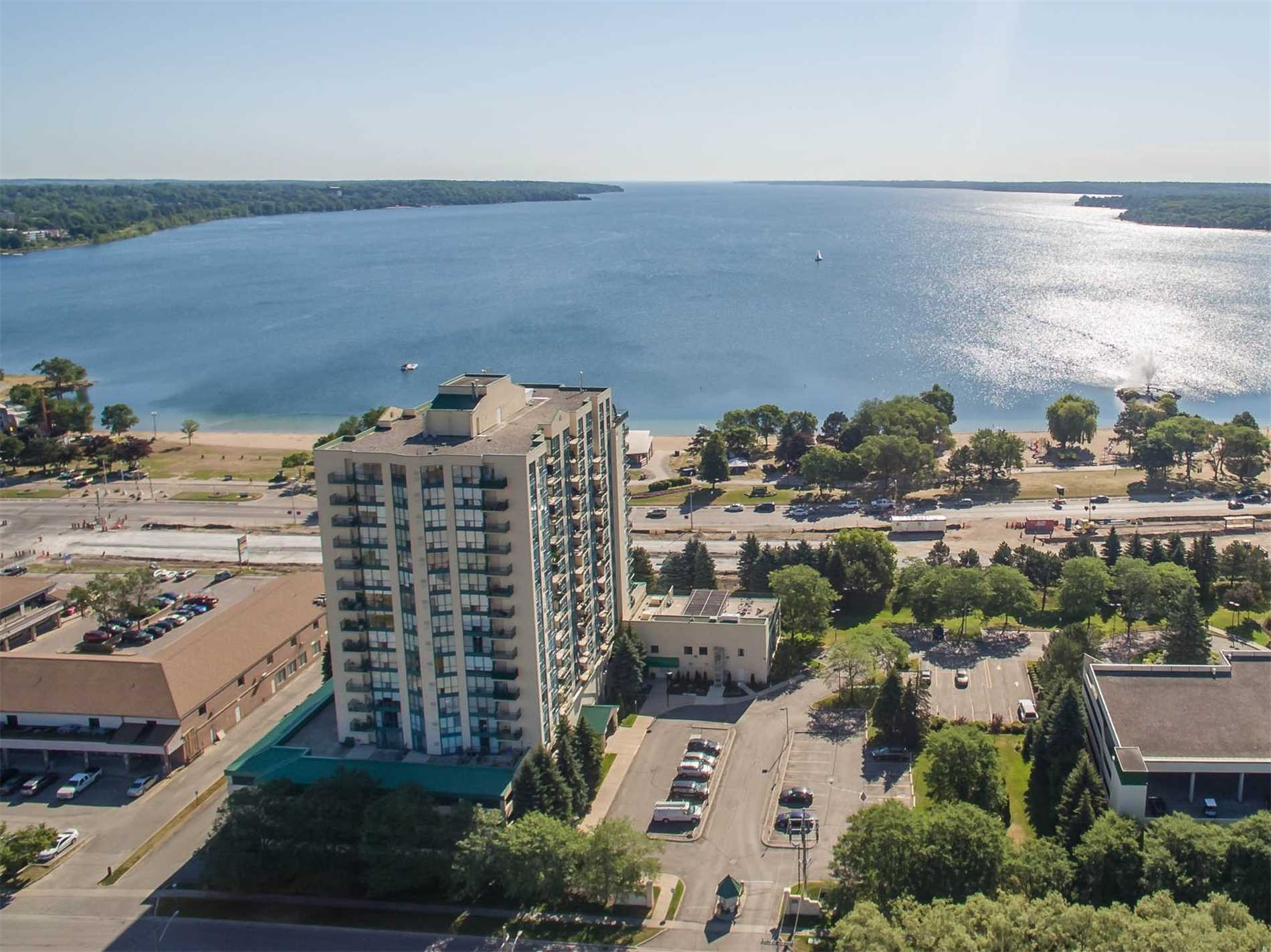 Lovely 2 Bed, 2 Bath 1,123 Sq Ft Suite At Marina Bay. Windows Facing East To See Morning Sunrise Over Kempenfelt Bay & W/O To Balcony With Panoramic View Of The City & Beautiful Sunsets To The West. Upgraded Laminate Floors, Beautiful Kitchen, Marble Back Splash, Quartz Counter, Pull Outs In Cupboards. Solarium Off Of Kitchen With Water Views. Lg Laundry/Storage Room, W/I Shower In Ensuite Bath. Quiet Friendly Bldg, Great Rec Facilities. Short Walk To Beach.