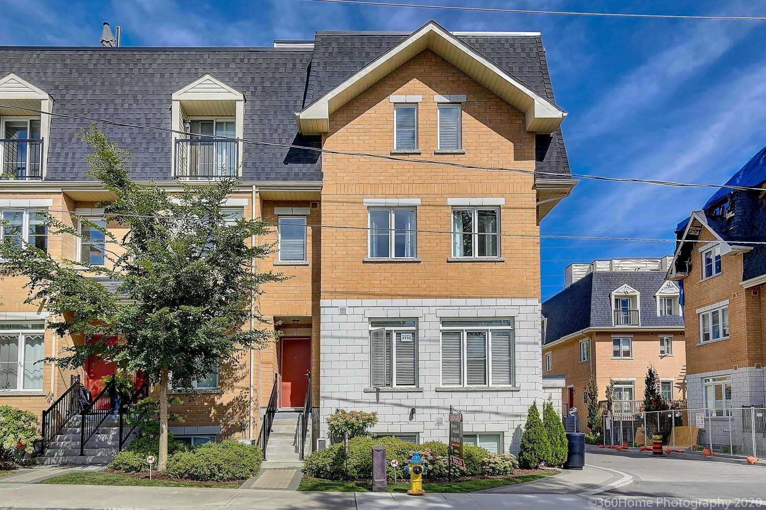 Chic & Elegant 2Yr New Executive Townhouse In Briar Hill, Steps To Allen Subway And 2021 L.R.T., Ttc, Yorkdale Etc..  Spacious And Bright 923 Sq. Ft. + Large 175 Sq/Ft. Roof Top Terrace (Largest In Complex) Views Of Cn Tower,1+1 Bdrm, 2 Baths, Custom Upgrades Thru-Out: Granite Counter Tops, 9Ft High And Smooth Ceilings, Extra High Custom Cabinets, Cut Glass Bckplsh, Goose Neck Facet, Upgraded Larger Trim And Basebrds, Balcony Frm Mster Bdrm, Must See !!