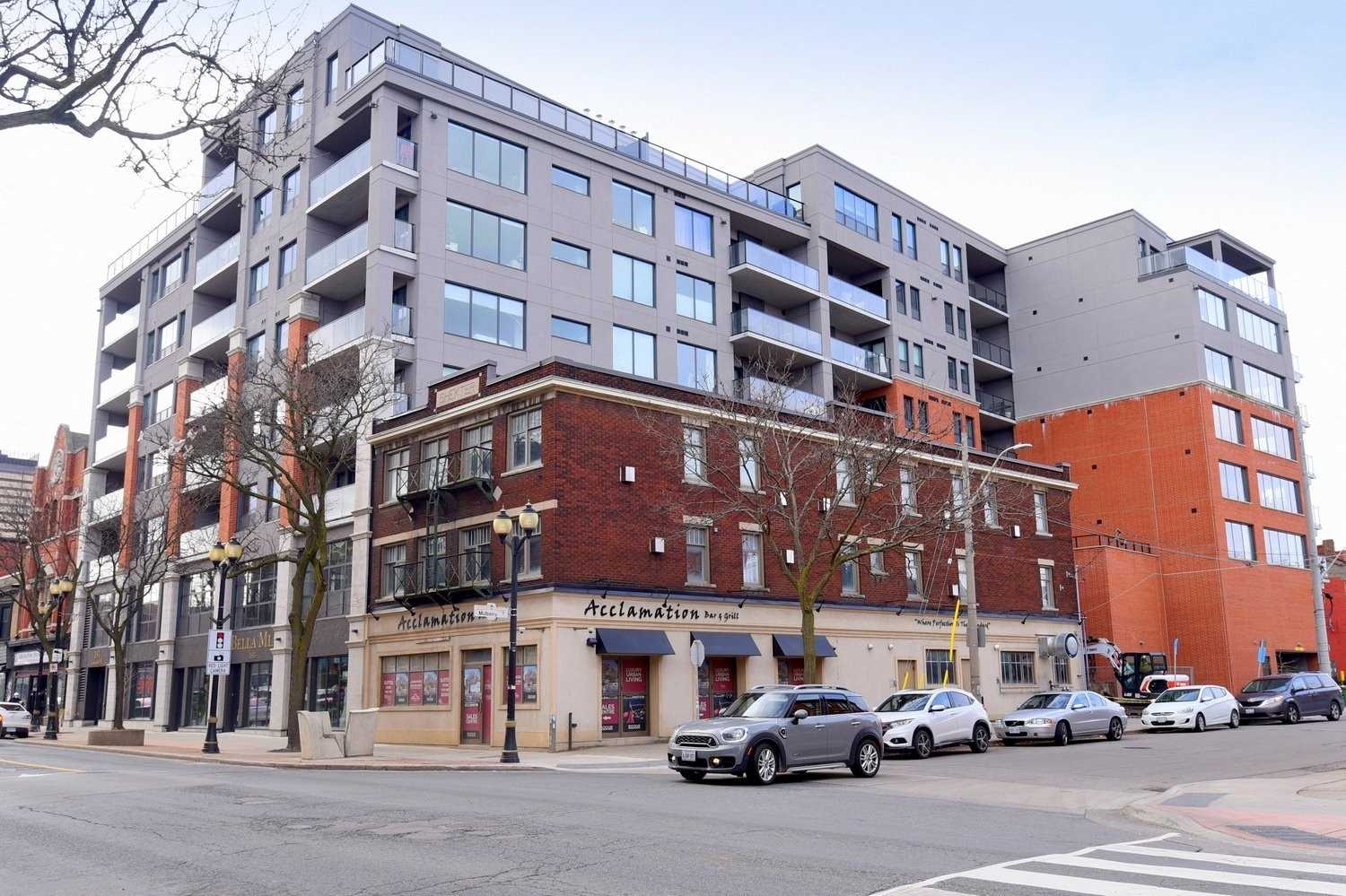 Amazing Southern Views Looking Across The City. This Spacious Unit In The Acclamation Residences Features Granite Counters, Gas Stove, 2 Way Gas Fireplace To Enjoy Inside And Out, In-Suite Laundry 1 Bedroom Plus Den With Closet And Gas Bbq Hook Up On The Balcony. Located In The Trending James St. N. Area With Plenty Of Restaurants And Shops Just Outside Your Door. Enjoy The Roof Top Patio With Panoramic Views Of The City. Walk To Liuna Go Station & Market.