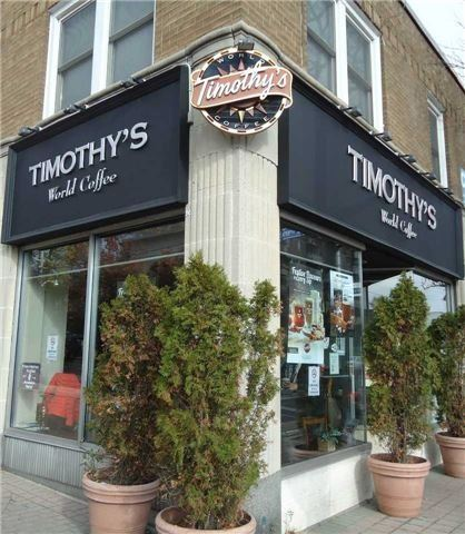 Established & Busy Premium Timothy's Coffee Franchise Located At Prime Intersection With Exposure On Busy Main Road. Value Priced To Sell Fast. Business Sells Specialty Coffees, Teas, Ice Coffees, Pasties, Cold Drinks, Lunches, Etc. Top Franchise With Excellent Training & Support. Don't Miss This Opportunity. New Loblaws Grocery & New Condo Coming Soon Nearby.
