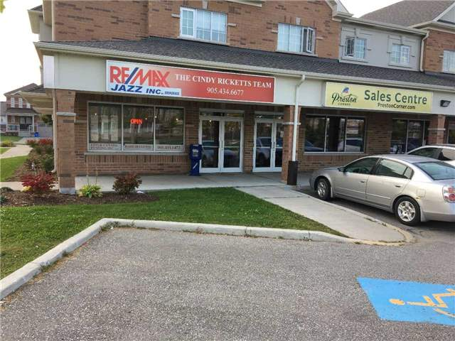 End Unit With Lots Of Windows And Great Exposure. Great Opportunity To Open A Store In A Brand New Area, Close To Highway 401. Professional Uses Preperred. Plaza Has 8 Units And Residential Apartments On The Second Floor. Excluded Uses Include Dental, Optical, Yoga , Pharmacy And Convenience Store.