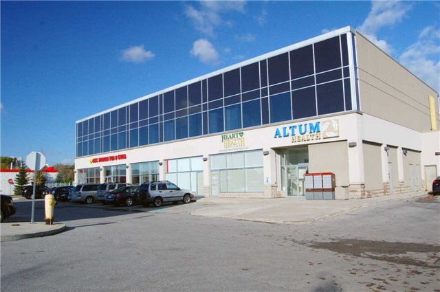 Beautifully Finished, Ground Floor, High Profile, Office For Lease In Contemporary/Modern Building. Conveniently Located Seconds South Of Hwy 401 At Salem Road Interchange. Good Parking. Plaza Anchored By Tim Horton's & Petro Canada.