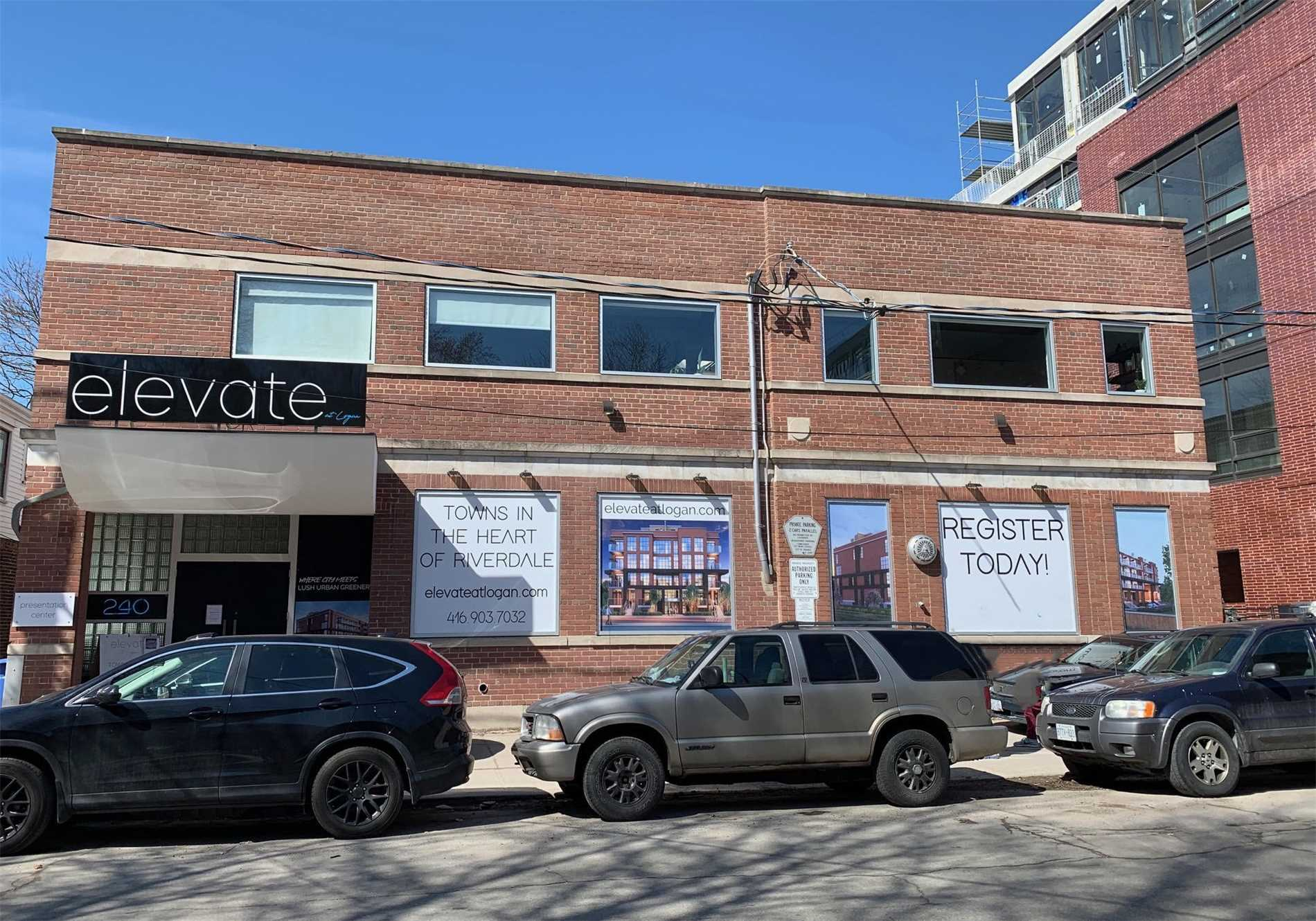 Authentic Post And Beam Office Space In The Studio District In Leslieville At Logan And Queen St E. Streetcar, Trendy Shops, Cafes And Most Services In Walking Distance. Perfect Space For Film Industry, Head Office, Music Studio, Sales Office, Ad Agency, Interior Design, Fashion Use, Showroom, Art Gallery, Shared Office Space. Total Space Available: Approximately 8400 Sf - Can Be Divided.