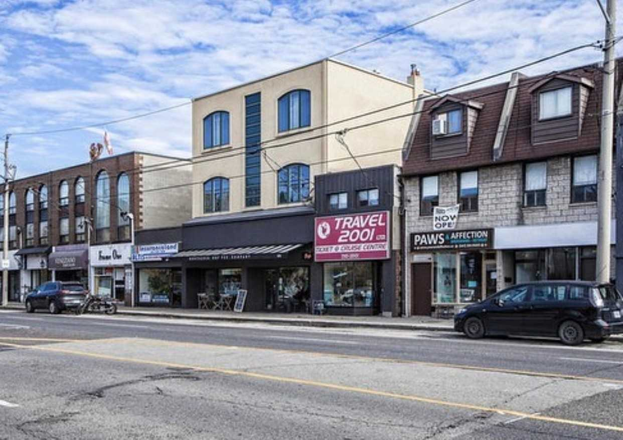 Prime Retail Location At St. Clair & O'connor Dr. Approximately 800 Sqft Of Retail Space The Main Level With An Additional 700 Sqft In The Basement. (Total 1500 Sqft) Great Exposure With Walk-By Traffic.