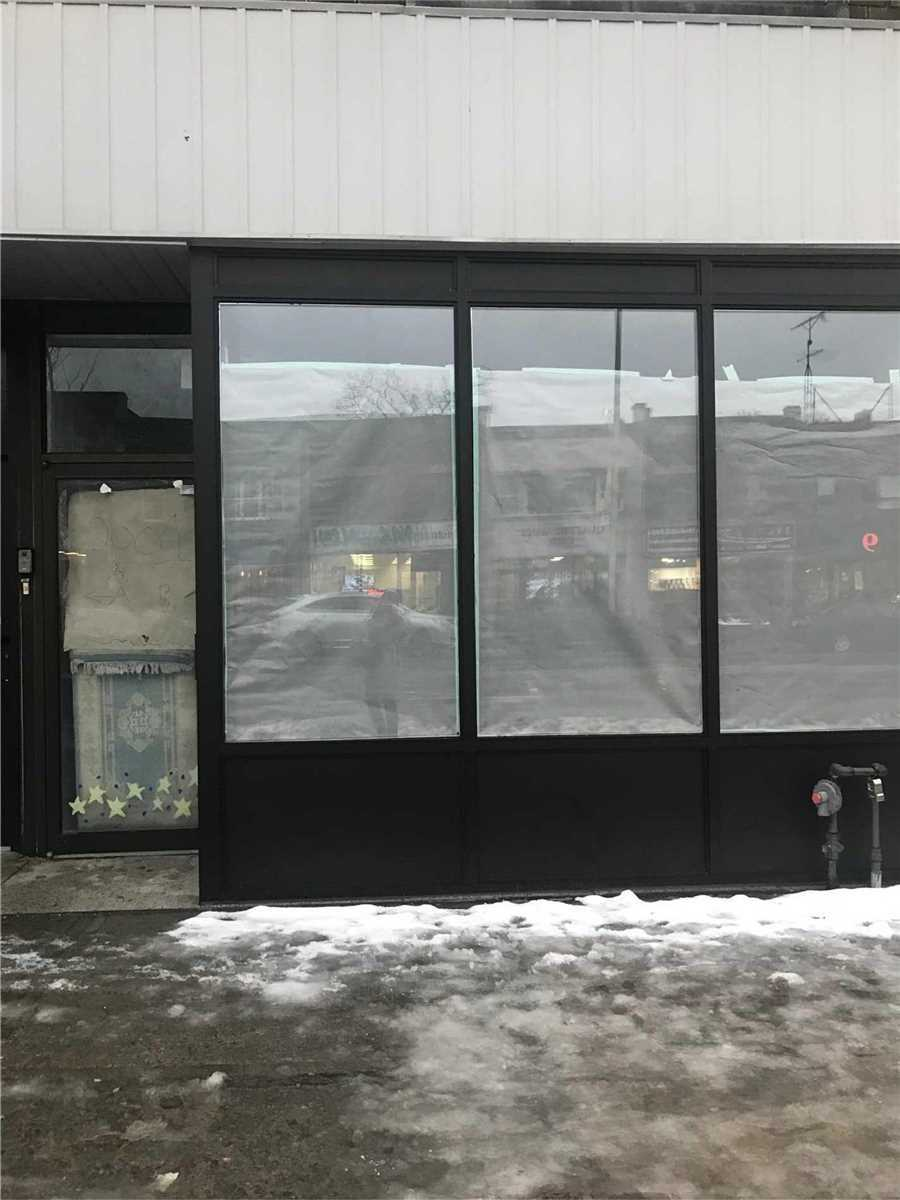 Newly Renovated! Great Retail Space On Busy Danforth Ave. 2000 Square Feet Including 500 Sqft Fully Enclosed And Heated Workshop/Garage With Drive In Door, Plus A Full Basement.
