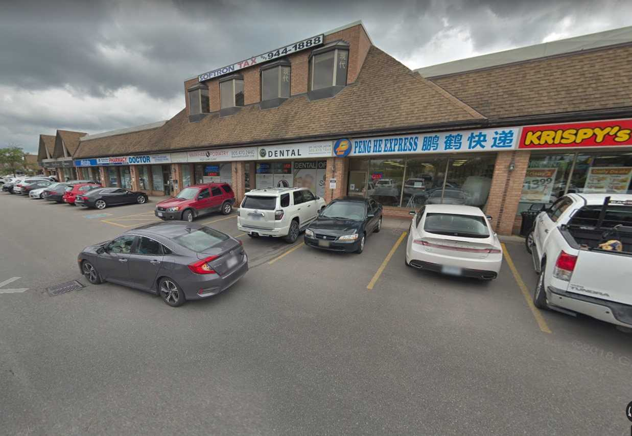 Outstanding Retail Opportunity In The Much Sought After Location Across From Markville Mall.Good Signage & Exposure On Busy Highway 7.High Traffic & Demand Area. Ample Free Surface Parking At The Doorstep. Good Tenant Mix.Plaza Anchored By Sleep Country And All State. Currently Set Up As A Dental Office.Space Shared With Podiatrist.