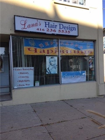 For Lease Or Sub-Lease. If For Lease - $3200 + Hst, + Utility, 5+5 Option, If For Sublease $1400 + Hst, + Part Of Utilities. Currently Used As Hair Salon With 2 Private Entrances. Lots Of Storage Space In A Basement. Separate Room And Lots Of Space For Esthetician. For A Total Of 600-700 Sq. Ft. Lots Of Parking .