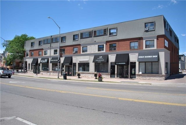 Excellent Exposure On Lakeshore Road At The Corner Of Kerr St This Location Provides A Great Retail/Office Opportunity For Your Clients Looking In A Traffic Area. Surface Parking Is Available For Customers And Underground Parking Is Available For Tenants With Each Unit Being Assigned 1 Surface And 1 Underground Parking Spot Each. This 755 Sq.Ft Unit Is A Perfect Opportunity For A Professional Office Or Retail Store With Frontage On Lakeshore.
